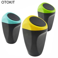 OTOKIT Mini Car Garbage Can Car Trash Can Garbage Dust Case Holder Bin Car-styling Car Storage Case Trash Bin  Accessories