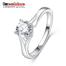 LZESHINE Super Deal 2017 Fashion Jewelry Rings Silver Color AAA Zirconia Jewelry Ring with Full Size Cheap Price Jewelry CRI0392(China)