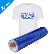Q3 Kenteer Factory Price Hologram Heat Transfer Vinyl For T-Shirt 50cm*25m/Roll