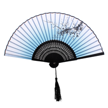 New Hot Sale Plum Blossom Pattern Hand Fan Bamboo Japanese Folding Fan Pocket Fan(China)