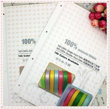 Free shipping 196 colors sample COLOR CHART for Grosgrain Ribbon wholesale OEM H2343
