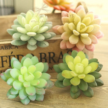 (3pcs/lot) 2014 hot sale high simulation succulents gemstone lotus wholesale simulation leaves artificial leaves for living room