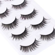 5 Pairs/lot Beauty Long Thick Makeup False Eyelashes  Long Black Nautral Handmade Eye Lashes Extension Make up Hot Sale