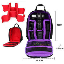 Nylon Waterproof DSLR Camera Container Backpack Shoulder Bags Organizer Case Grid Space Saver Vacuum Storage Bag New