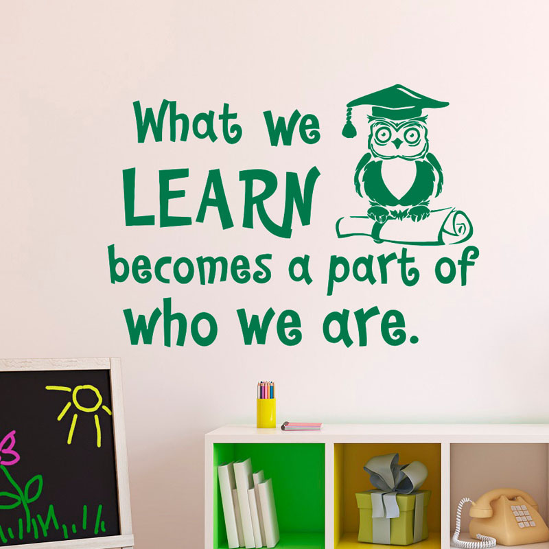 What We Learn Becomes A Part Of Who We Are Quotes Wall Stickers Owl Doctor  PVC Part 51