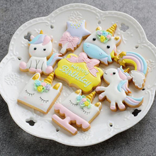 8Pcs/set Unicorn Horse Cookies Cutter Mold Cake Decorating Biscuit Pastry Baking Mould IC992843(China)