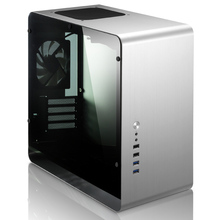 MATX HTPC Side transparent Chassis Jonsbo UMX3 aluminum alloy small  computer case silver USB3.0