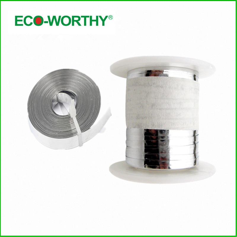ECO-WORTHY 100 Feet Tabbing Wire 2mm with 10 Meters Bus Wire 5mm for DIY Solar Panel Tab Bus Wire Solar Generators<br>