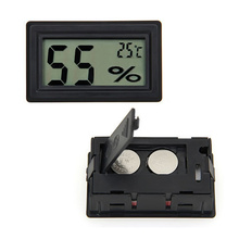 Mini Portable Digital LCD Humidity Thermometer Hygrometer Meter Electronic New Weather Station Wireless Barometer(China)