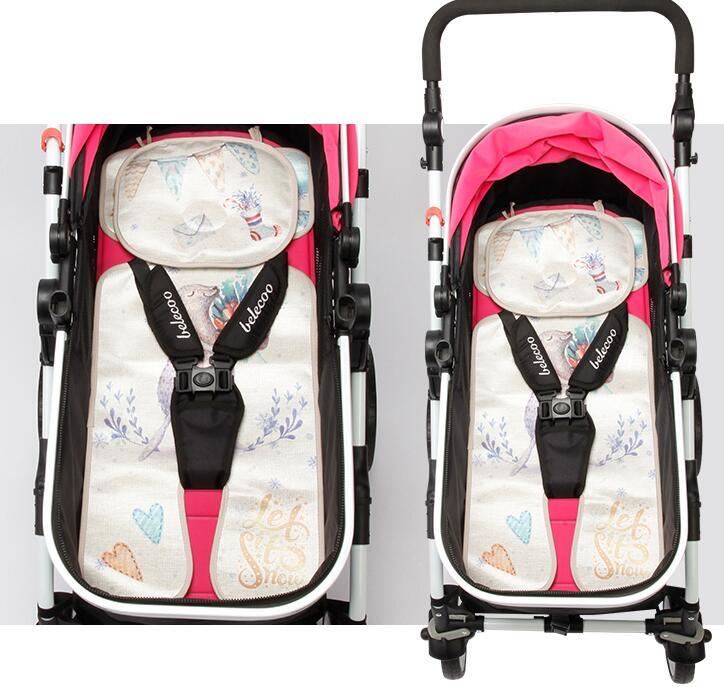 Mother & Kids Activity & Gear Cute Pink Gray Dot Baby Stroller Cushion For Winter Autumn Soft Kids Pram Mat Pad High Length Baby Stroller Accessories Seat Mat