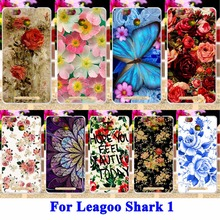 Silicon Cell Phone Cases For Leagoo Shark 1 Shark1 Covers Rose Peony Flower Painted Housing Skin Shark 1 Shell Soft TPU Hood