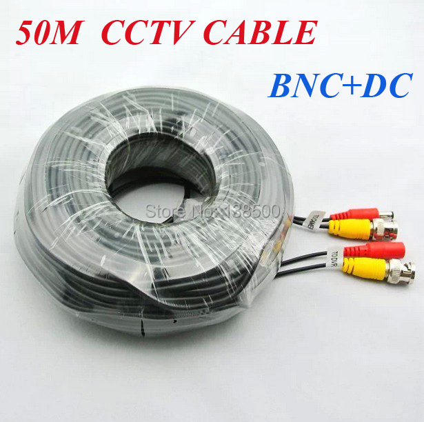 Free Shipping CCTV CABLES 160FT 50M BNC DC CABLE WITH CONNECTORS for CCTV DVR and Cameras<br><br>Aliexpress