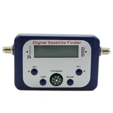Digital LCD Satellite Finder Sat Finder Signal Strength Meter Sky Dish Freesat Blue(China)