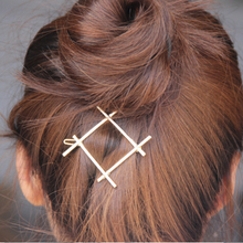 Timlee H015 Free shipping  Grace Fashion Square Metal Hair Barrettes Hair Clip hair accessory wholesale