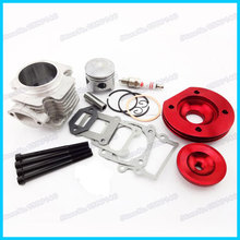High Performance 44mm big bore cylinder assy 2 grooves red kit set 47cc 49cc 2 stroke Mini Moto Dirt ATV Quad Pocket Bikes(China)