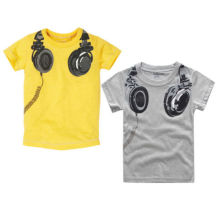New Headphone Design T shirt Boys Kids Short Sleeve Tops T-shirt Tees 100cmCotton