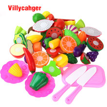 WholeSale Price 25 pcs / set Cutting Fruit Vegetable Pretend Play Children Kid Educational Toy Pretend Play toys for children(China)