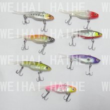 7x Soft Vibe Vib Soft Plastic Fishing Lure 70mm 10g Flathead Bass Lures(China)