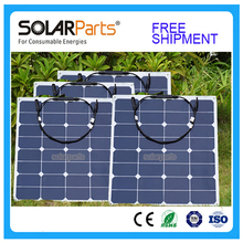 Solarparts 4x 50w free shipment Solar Panel flexible 12V Solar system solar module solar cell outdoor RV/marine/boat cheap sales