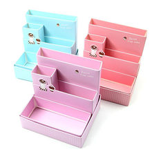 DIY Paper Board Storage Box Desk Decor Stationery Makeup Cosmetic Organizer New(China)