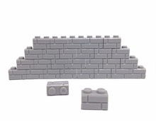 DIY Brick Parts 50pcs/Lot 1X2 Wall Compatible with Legoe Block Accessories