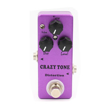 Great Tone Mini CRAZY TONE Distortion (RIOT Distortion ) Guitar Effect Pedal Two mode voice choose And True Bypass(China)