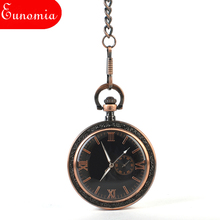 Vintage Roman Numberals Cool Steampunk Key Chain Necklace Pocket Watch Men Brand Sales Gift Box Luxury Watch New Arrival