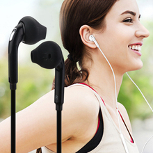 3.5mm Wired Earphone Stereo Headphones Portable Sport Running Headset with Mic Volume Control Universal for iPhone Samsung S6