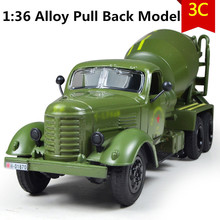 1:36 alloy Construction vehicles,Diecast Metal Military Model,Cement mixer cars, Alloy gift car,free shipping