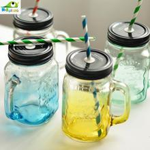 Juice Jar Glass jars Vintage Mason Cool Water bottle 500ml Drink ware Zakka Mug cups Bar Party supplies Novelty households