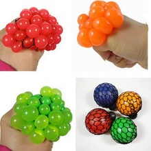 Funny toys Antistress Face Reliever Grape Ball Autism Mood Squeeze Relief Healthy Toys Fun Geek Gadget for Halloween Jokes(China)