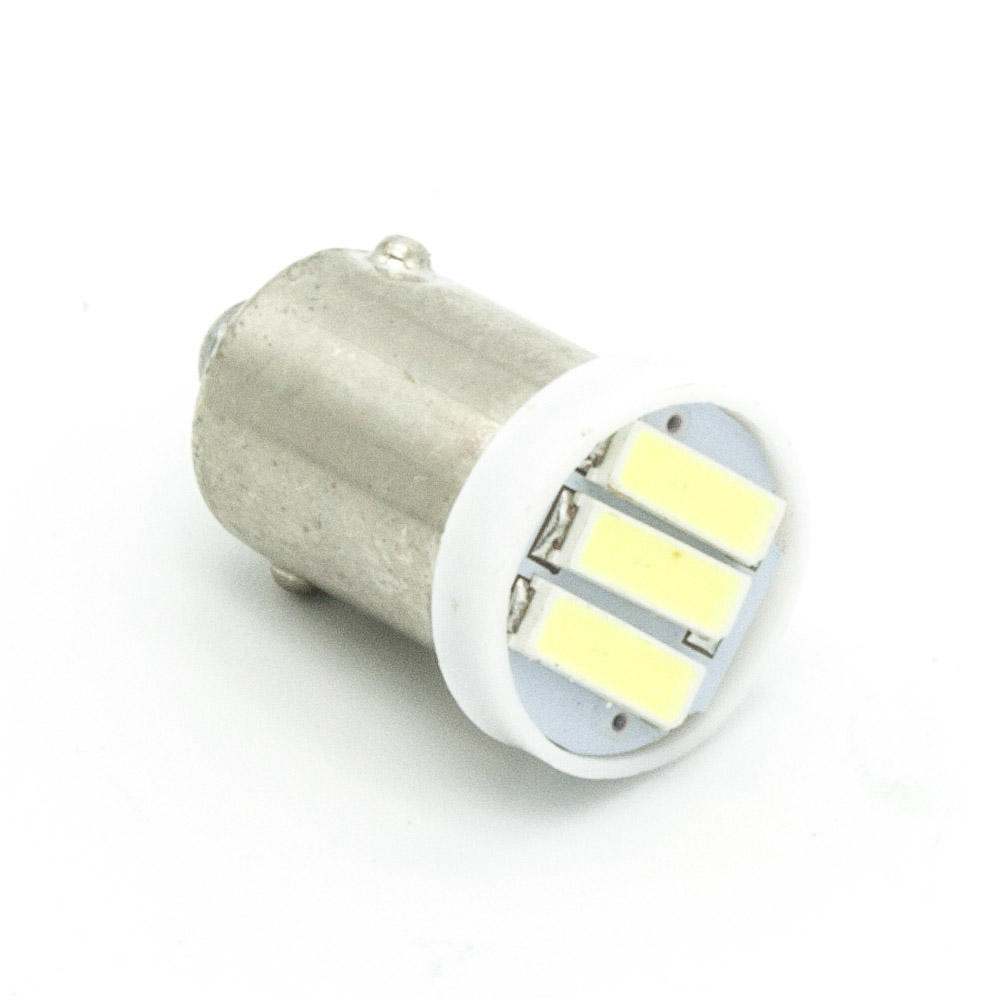 4xba9s T4W 3-7020 SMD LED White Lights led bulb Side marker,Dome Festoon Reading Lamp License Plate Lamp DC 12V<br><br>Aliexpress