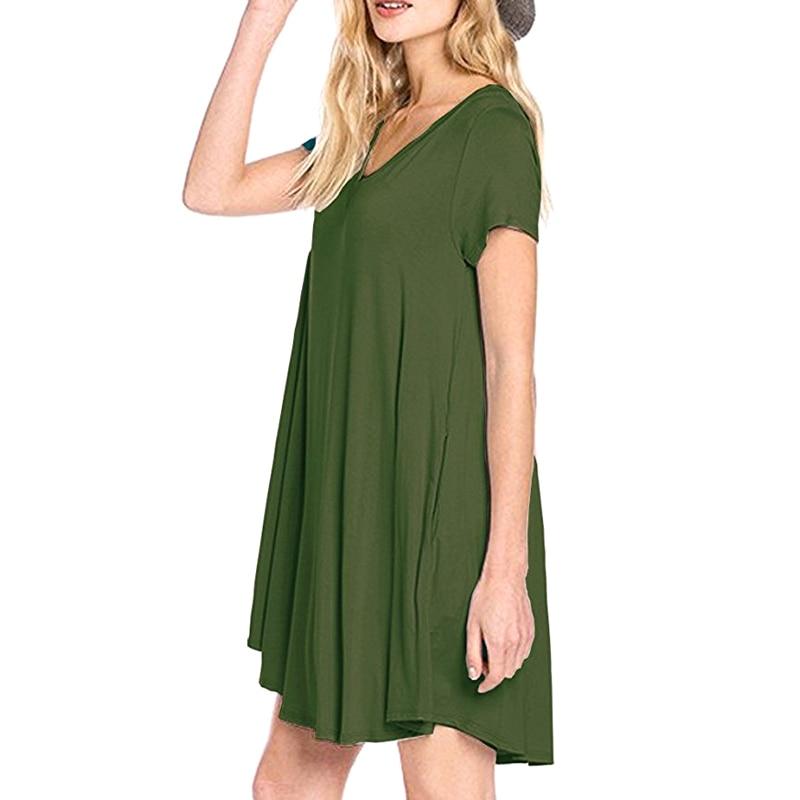 Pregnant Women Clothes Casual Summer European Maternity Pocket Dress Plus Size Pregnancy Suit-dress Maxi Vestido Robe 2018