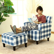 Japanese style simple Sofa Hotel coffee shop small Huxing retro cloth(China)