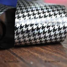 Nail Art Salon Wholesale Products Nail Art Transfer Foil Roll Laser Silver Base Black Houndstooth YC458