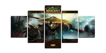 5 Panels Game World Of Warcraft Pandaren Modern Home Wall Decor Canvas Picture Art HD Print Painting On Canvas For Living Room