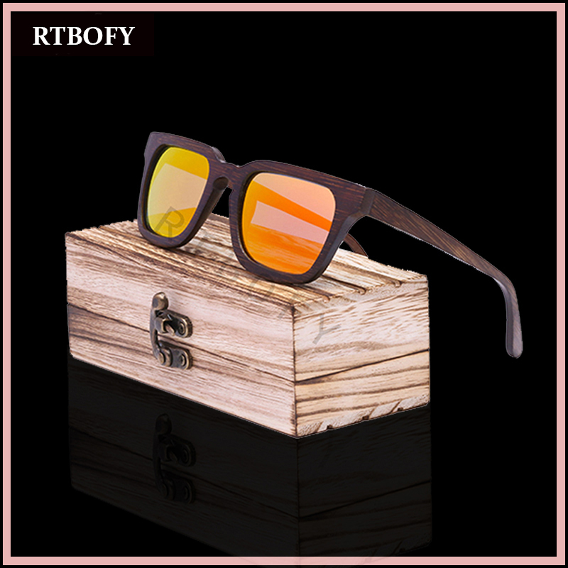 RTBOFY Wooden sunglasses women brand designer glasses fashion men polarized sun glasses wood oculos de sol<br><br>Aliexpress