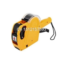 Yellow Red Blue Single Row Supper Market Shop 8 Digits Price Labeller Label Tag Gun(China)