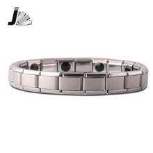 Fatpig Tourmaline Energy Balance Bracelet Germanium Magnetic Health Care Bracelets & Bangles Silver Charms Classic Jewelry