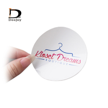 Personalized brand logo printed art paper self adhesive sticker labels pvc tags custom shape transparent stickers 1000pcs/lot(China)