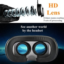 Space VR Virtual Reality Viewer 3D Headset Glasses+Console VR Goggles for Cellphones Watch Virtual Games Video HD Lens Visore 3D(China)