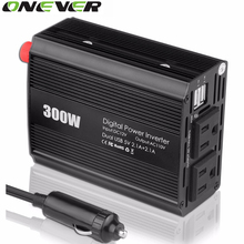 Onever Car Inverter 300W Modified sine wave Inverter 12V-110V 60HZ AC Modified sine wave Power Inverter Car Voltage Convert