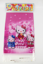 Hello kitty Theme Boy Girl Birthday Party Decoration Birthday Party Decorations Kids Plastic Table Cloth  Size 220cm X 132cm