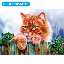 Diamond Cat Diamond Embroidery DIY Painting Diamonds Top Diamonds Mosaic Of A Cat Painting By Numbers Pictures Of Crystals(China)