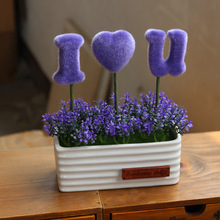 High Quality Artificial Flowers Potted Plant Decoration Creative Household/ Office Desktop Decorative Article