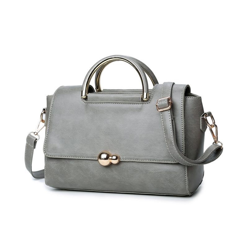 New Arrival  Rivet Women Bags Nubuck Leather Top-Handle Bags fahshion lock Women Shoulder Bag <br><br>Aliexpress