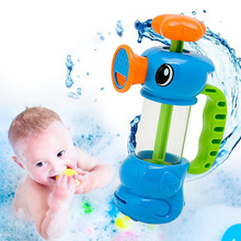 Baby Bath Water Toys Sea Horse Sprinkler Pumping Design Colourful Hippocampal Shape Eco-friendly Plastic ABS Baby Bath Toy