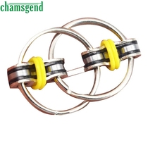 CHAMSGEND drop ship Chain Fidget Toy Hand Spinner Key Ring Sensory Toys Stress Relieve ADHD Top ZZY S30(China)