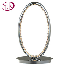Youlaike New Arrival LED Table Lamp Living Room Bedroom Creative Oval Crystal Table Light Abajur lampe de table Indoor Lighting(China)