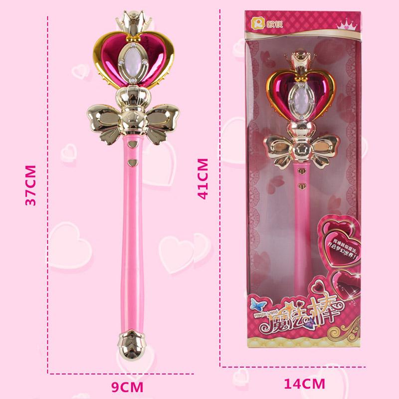 Anime Cosplay Sailor Moon 20th Tsukino Usagi Wand Henshin Rod Glow Stick Spiral Heart Moon Rod Musical Magic Wand Girl Toys (3)